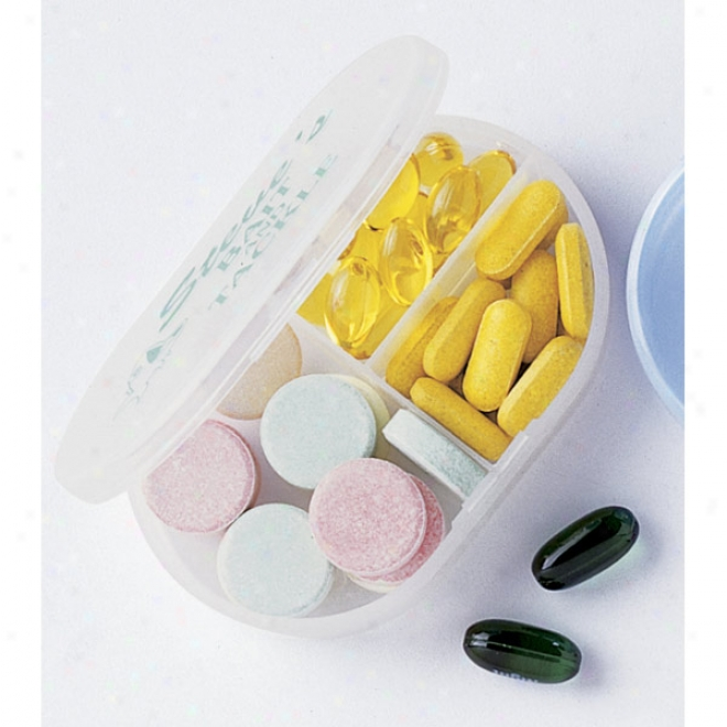 Select-all -multi-purpose Pill Box With 3 Compartments And A Large Imprint Area
