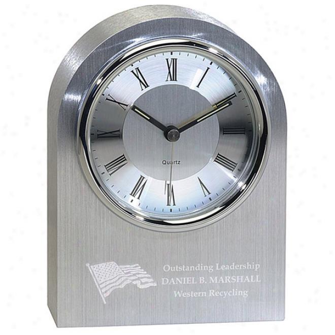 Silver Arch Clock