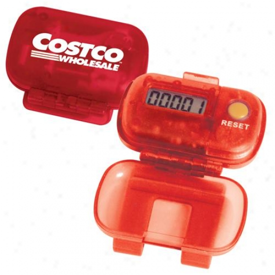 Single Function Digital Pedometer With A Reverse Hinge