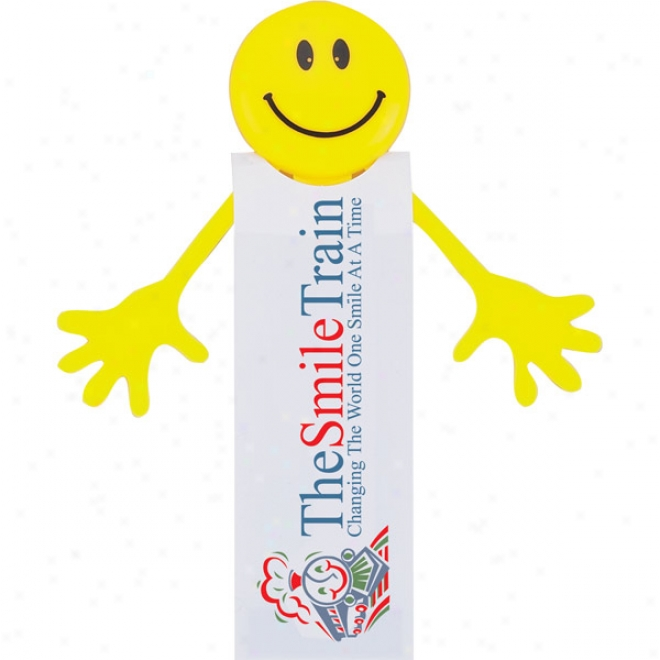 Smilee - Sturdy Vinyl Magnetic Bookmark With Smiley Face Design