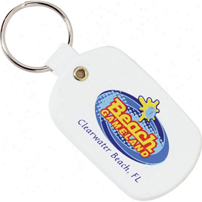 Soft Vinyl Oval Key Tag Made Of Flexible Plastic