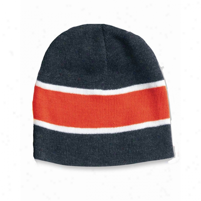 Sportsman Striped Knit Beanie