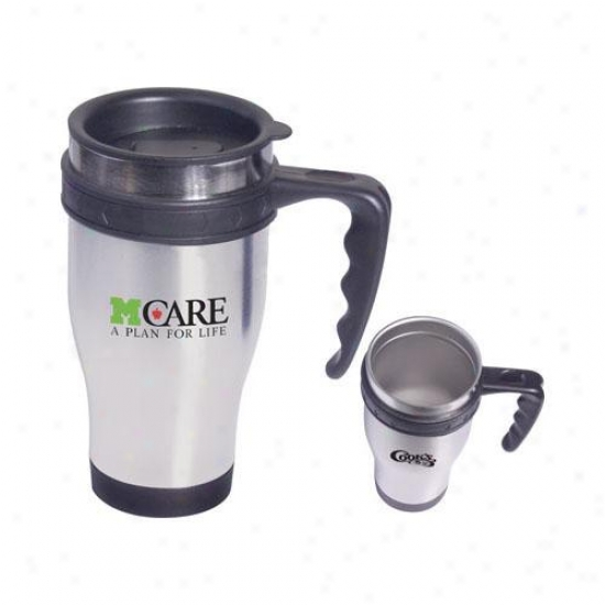 Stainless Steel Large Grip Mug With Closure Top