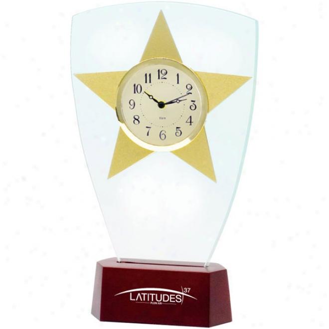 Heavenly body Award Glass Clock