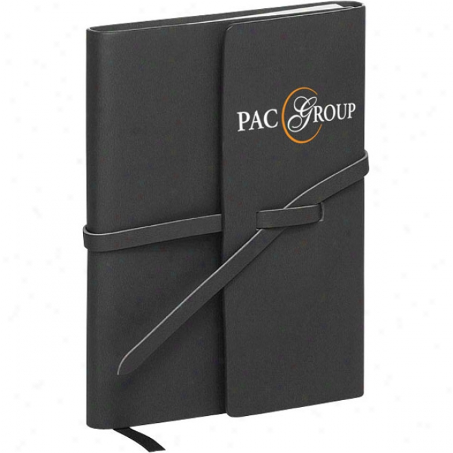 Strap Closure Folded Cover Notebook