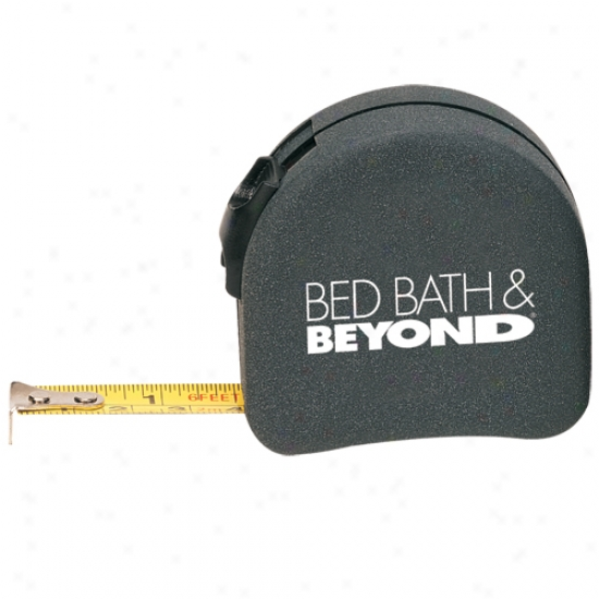 Tape Measure With Retractable Locking Feature And Belt Clip On Back