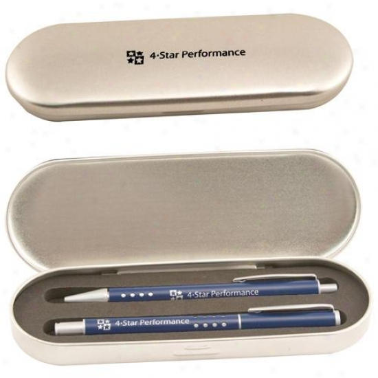 Techna - Pen Set With Ballpoint Pen And Roller Ball Pen In A Gentle Gift Box