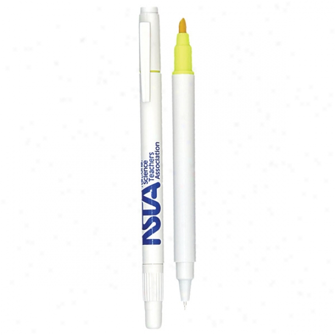 The Twin-write Pen Highlighter