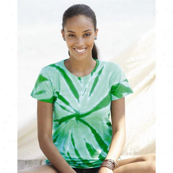 Tie-ryed - Juniors' Tone-on-tone Pinwheel Short Sleeve T-shirt