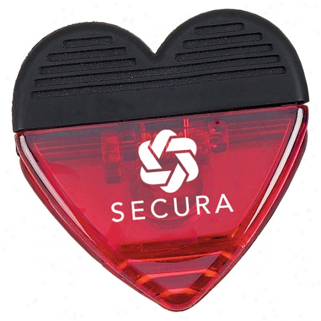 Translucent Magnetic Heart Clip