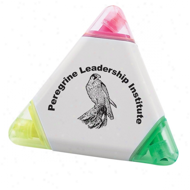Triangle Design, 3 Color Highlighter