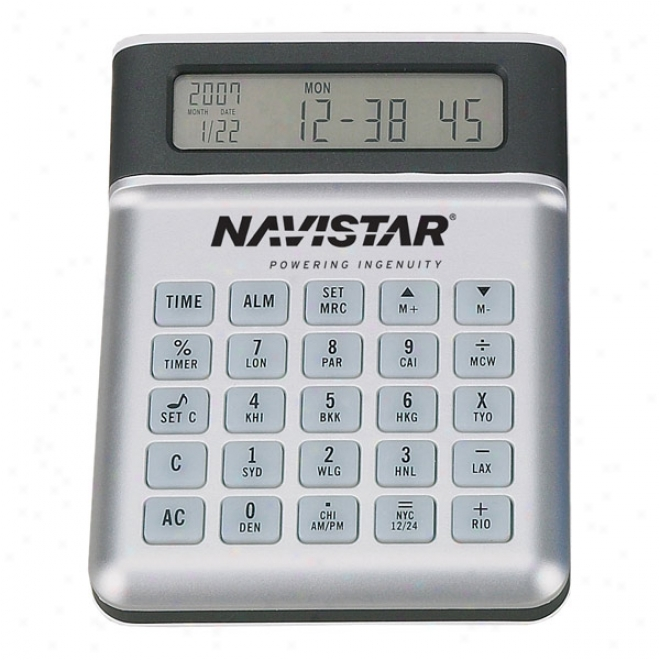 Usb 4 Port Hub Calculator Clock With Expansion String