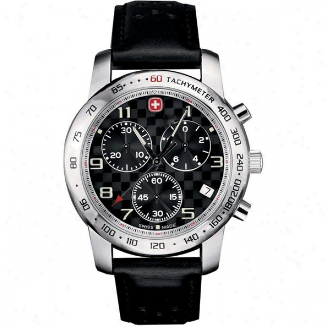 Wenger Mens Rallye Des Alpes Black Stp Chrono