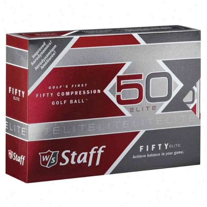 Wilson 50 Elite Golf Ball Std Serv