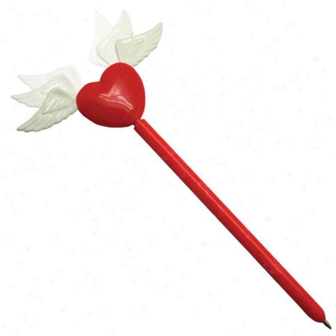 Winged Heart Pen