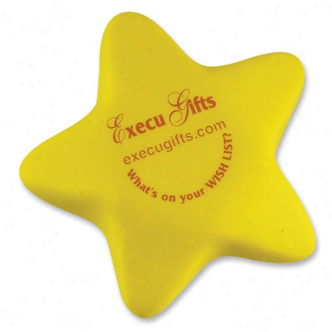 Yellow Star Stress Shape