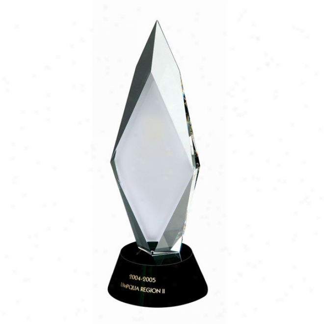 Zenith Optica Couture - Jewel Style Optical Crystal Award With Black Crystal Base