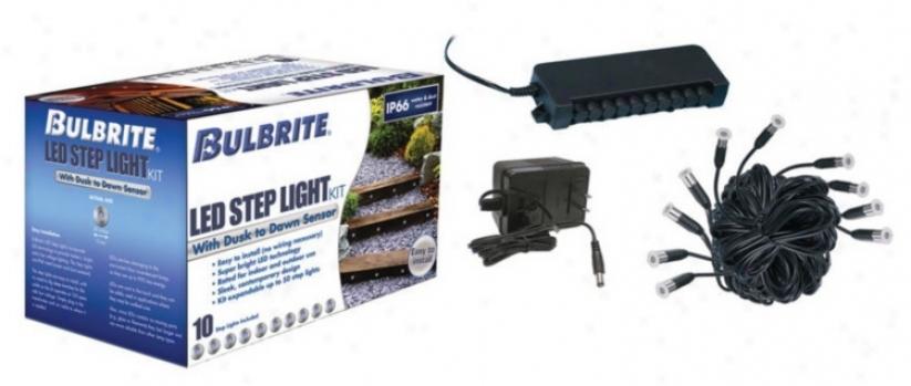 10 Blue Led Round Stainless Steel Step Light Kit (m0334)