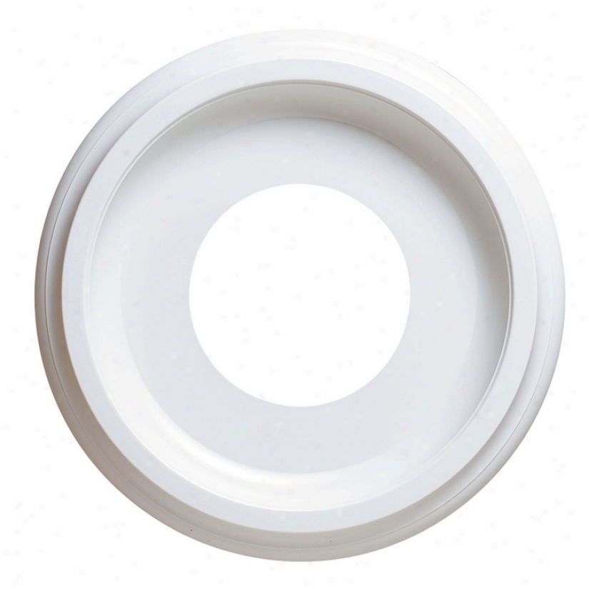"10"" Diameter White Finish Decorative Ceiling Medallion (27976)"
