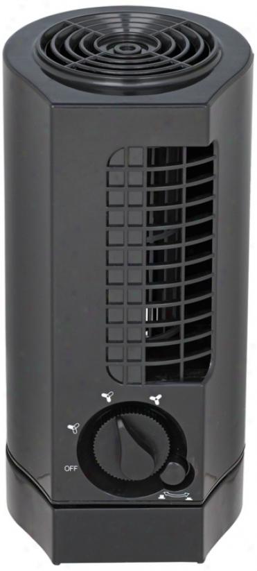 """10"""" Oscillating Minaret Black Desk Fan (r2813)"""