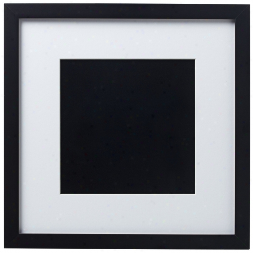 14 X 14 Black Finish With White Matting Wall Art Frame (r6083)