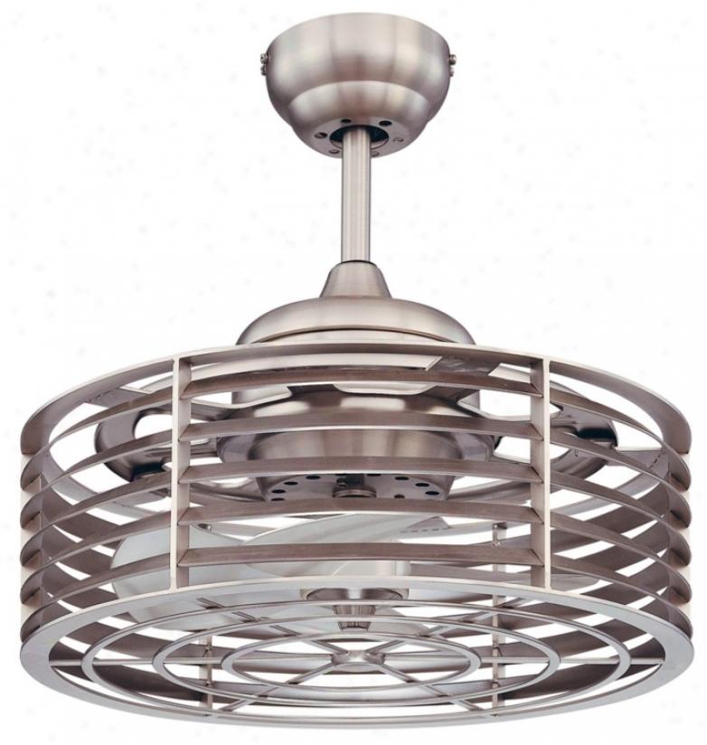 """14"""" Savoy House Sea Siee Satin Nickel Ceiling Fan (n2019)"""