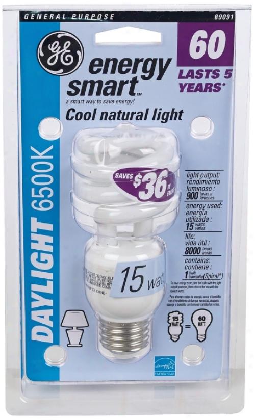 15 Watt Daylight 6500k Cfl Twist Energy Star® Light Bulb (35221)