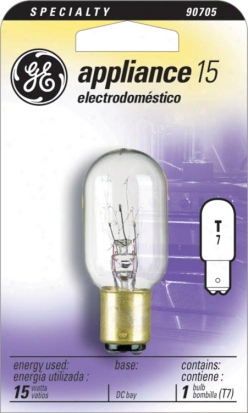 15 Watt T-7 Trick Contact Appliance Clear Light Bulb (90705)