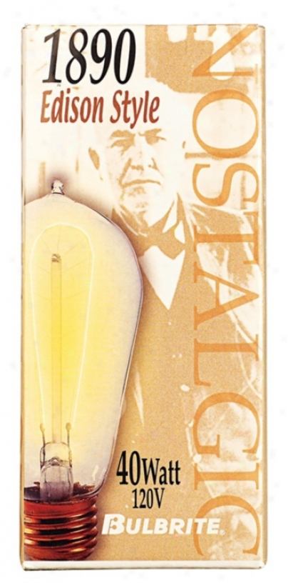 1890 Edison Style 40 Watt Light Bulb (80446)