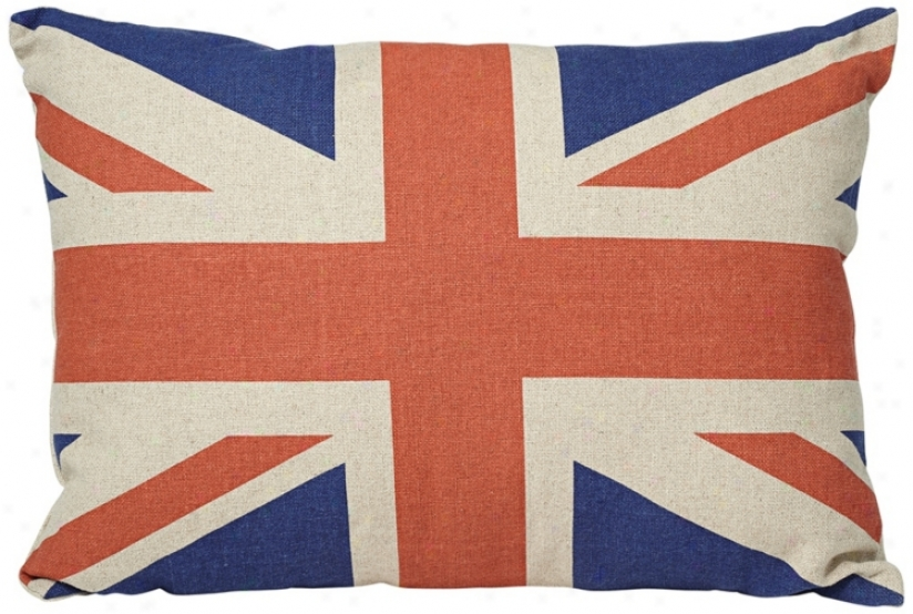 "19"" Wide Canvas Union Jack Pillow (v1960)"