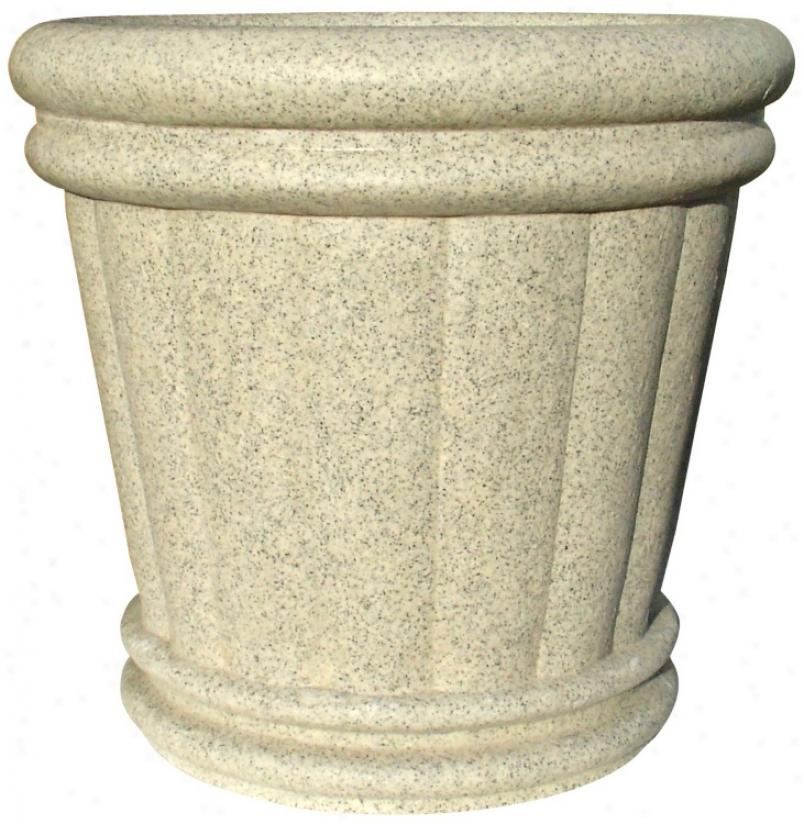 "22"" Speckled Granite Roman Urn Planter (t6890)"