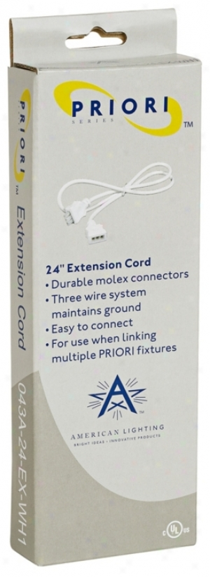 """24"""" Linking Cable Fro Priori Plus Under Cabinet Lighting (m9297)"""