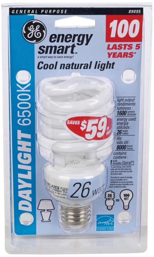 26 Watt Daylight 6500k Cfl Twost Energy Star® Light Bulb (35256)