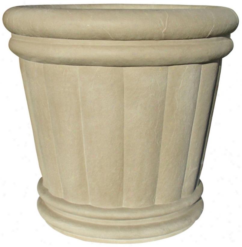 "28"" Slate Gray Roman Urn Planter (t6894)"
