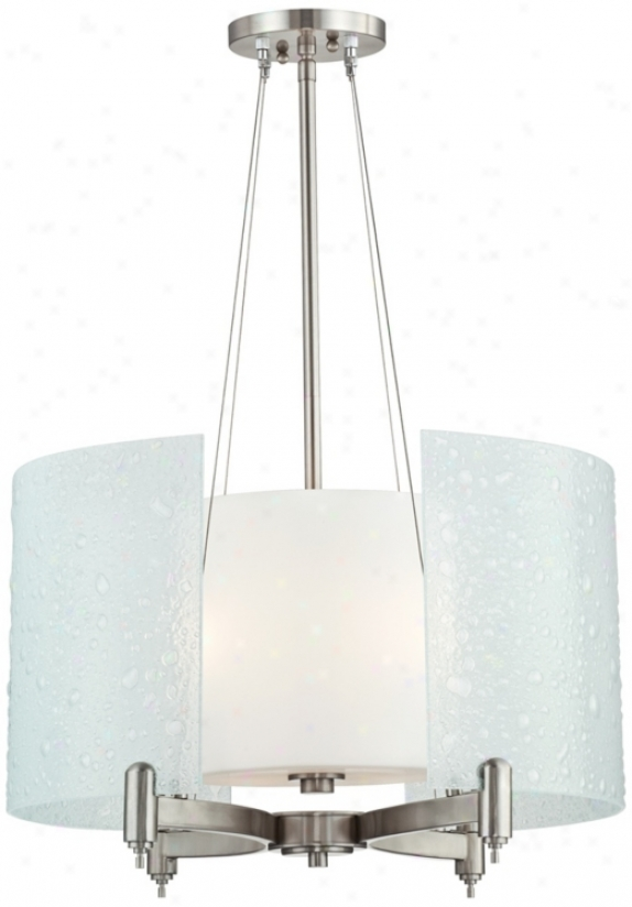 "3 Light Brushed Nickel Cosmo 23 1/2"" Wide Pendant Light (t4920)"