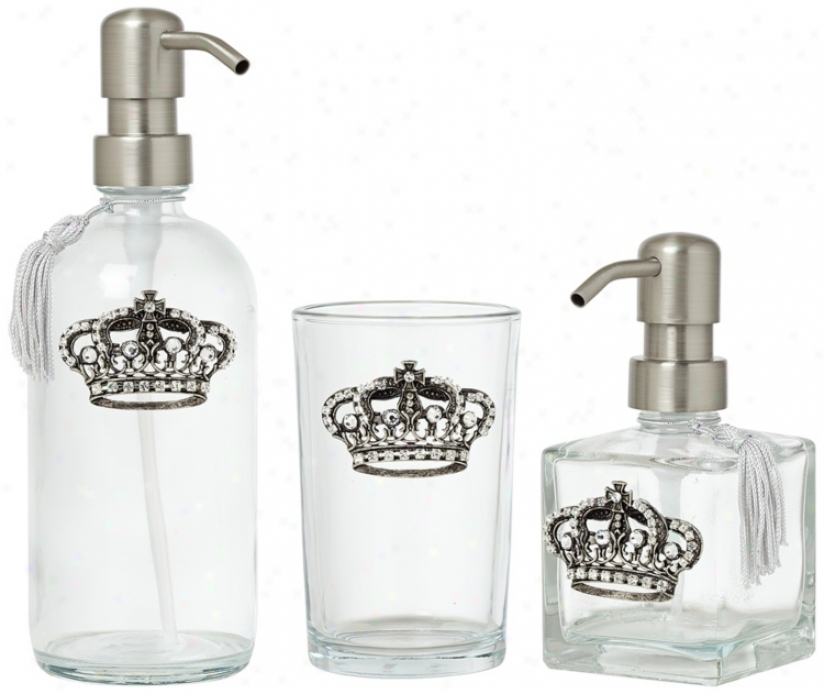 3-piece Silver Crown Bathroom Vanty Set (u7927)