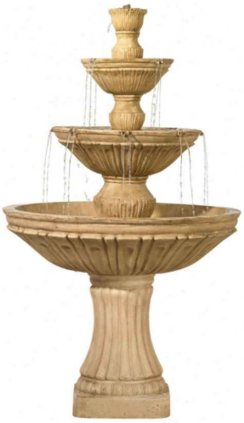 3-tier Greek  Floor Fountain (r6052)