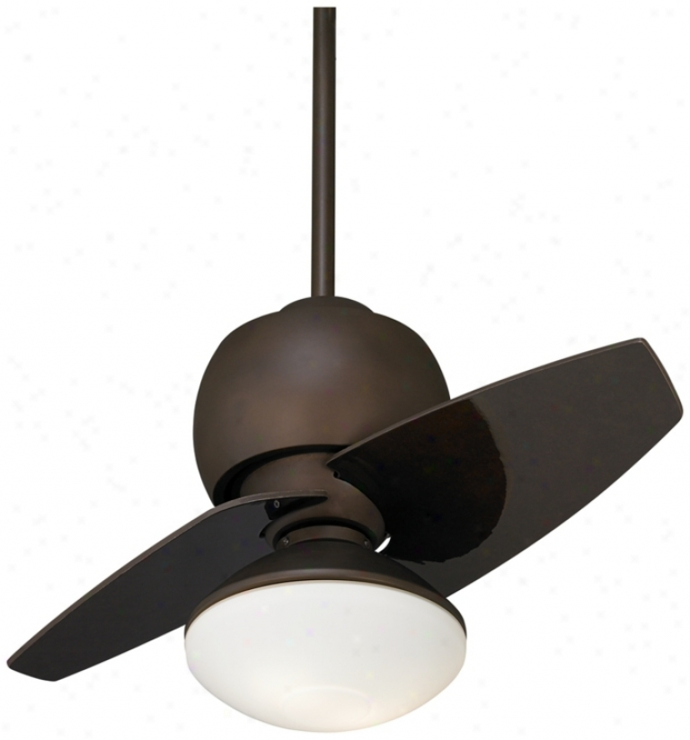 "30"" Being Orb Damp Location Ceiling Fan With Light Kit (r0171-r0213)"
