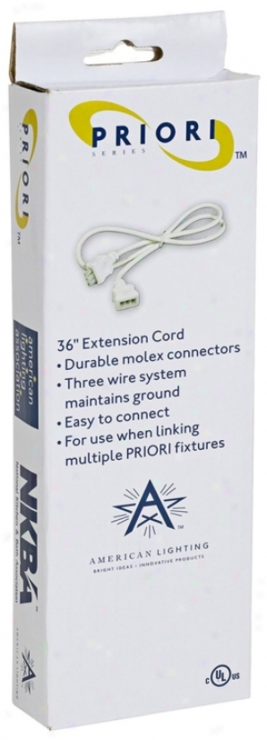 """36"""" Linking Cable For Priori Plus In Cabinet Lighting (m9299)"""