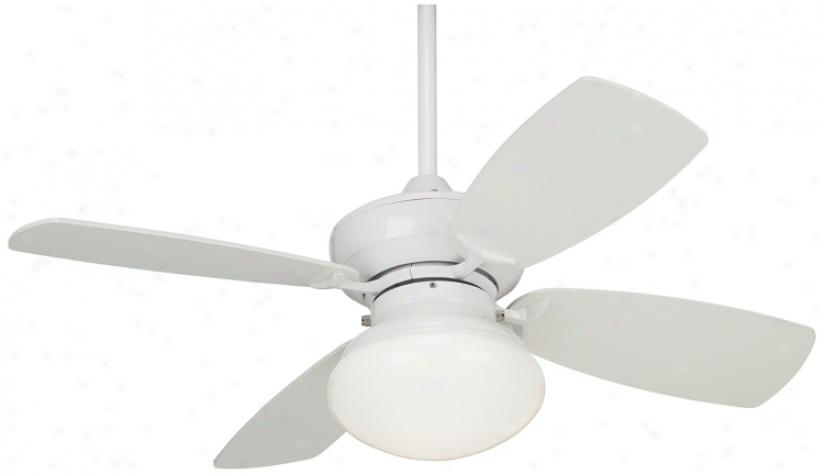 36&suot; Outlook White Ceiling Fan With Light Kit (m2744)