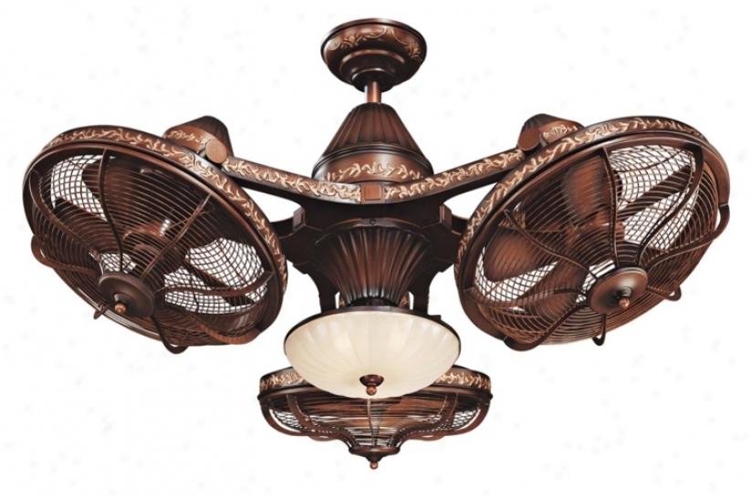 "38"" Esquire Rich Bronze Finish 3-head Ceiling Fan (99349)"