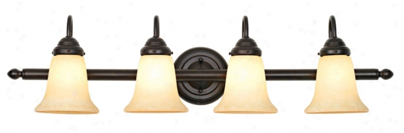 4 Light Bronze And Scavo Glass Bath Light (07518)