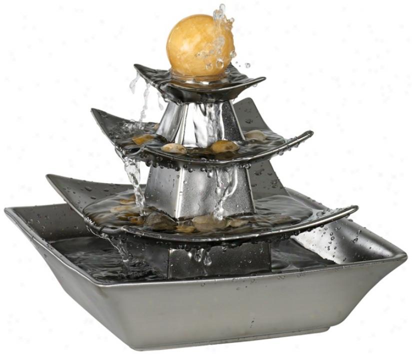 4-tier Table Ball Fountain (t1996)