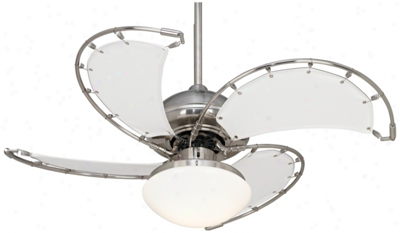 "40"" Aerial Brushed Nickel Ceiling Fan With Light Kit (m2558-m2561)"