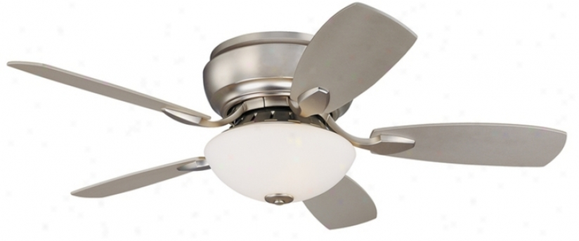 "44"" Casa Habitat™ Brushed Steel Hugger Ceiling Fan (00819)"