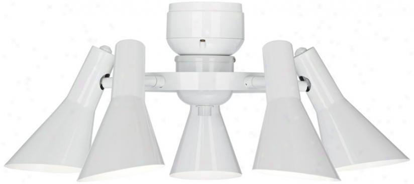 5-light Ceiling Fan Light Kit In White (r1741)