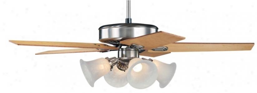 """52"""" Brushed Steel Windstar Ii™ Ceiling Fan (34053-32436-74450-87743)"""