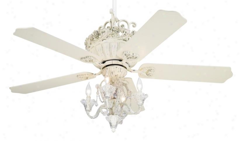 "52"" Casa Chic Antiqu eWhite Ceiling Fan Attending 4-light Kit (12277-19775)"