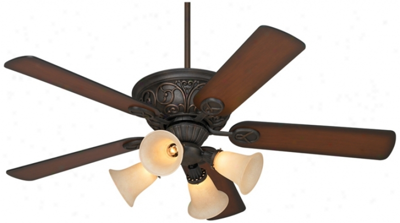 "52"" Casa Contessa™ Bronze Ceiling Fan With Light Kit (55878-56255-m3631-56451)"