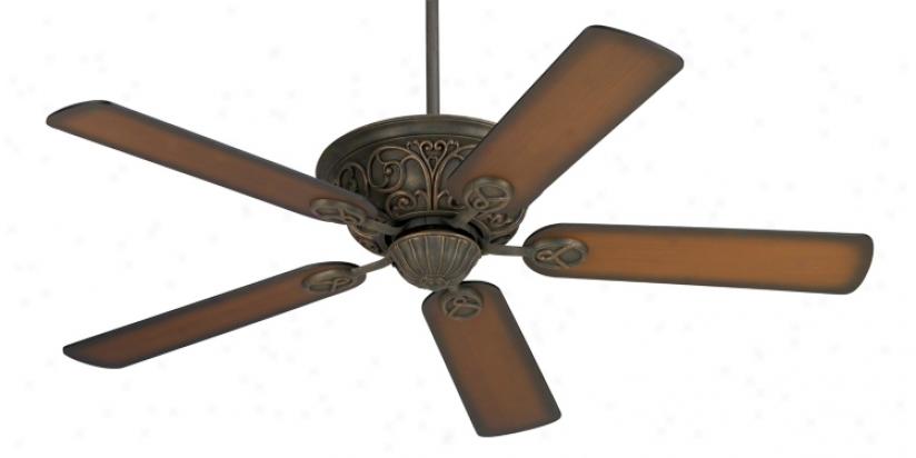 "52"" Casa Contessa™ Bronze With Teak Blades Ceiling Fan (55878-56292)"